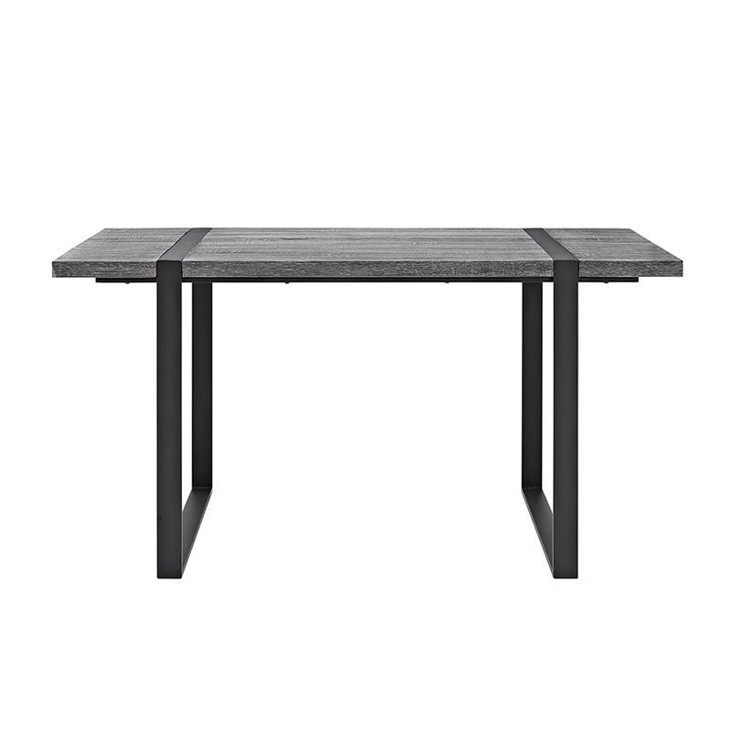 "60"" Urban Blend Wood Dining Table - Charcoal. Picture 3"