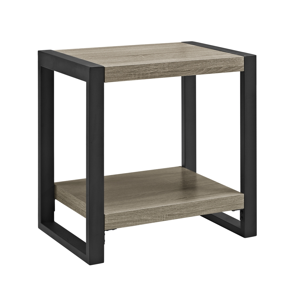 "Glass And Metal Square Coffee Table In Black W 80cm: 24"" Urban Blend Side Table"
