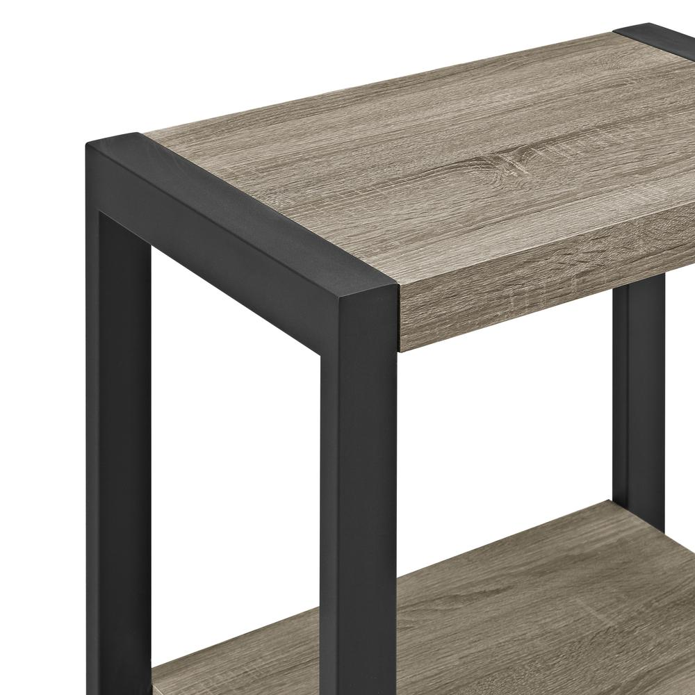 "24"" Urban Blend Side Table - Driftwood/Black. Picture 1"