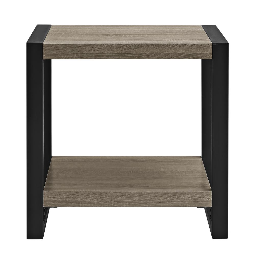 "24"" Urban Blend Side Table - Driftwood/Black. Picture 4"