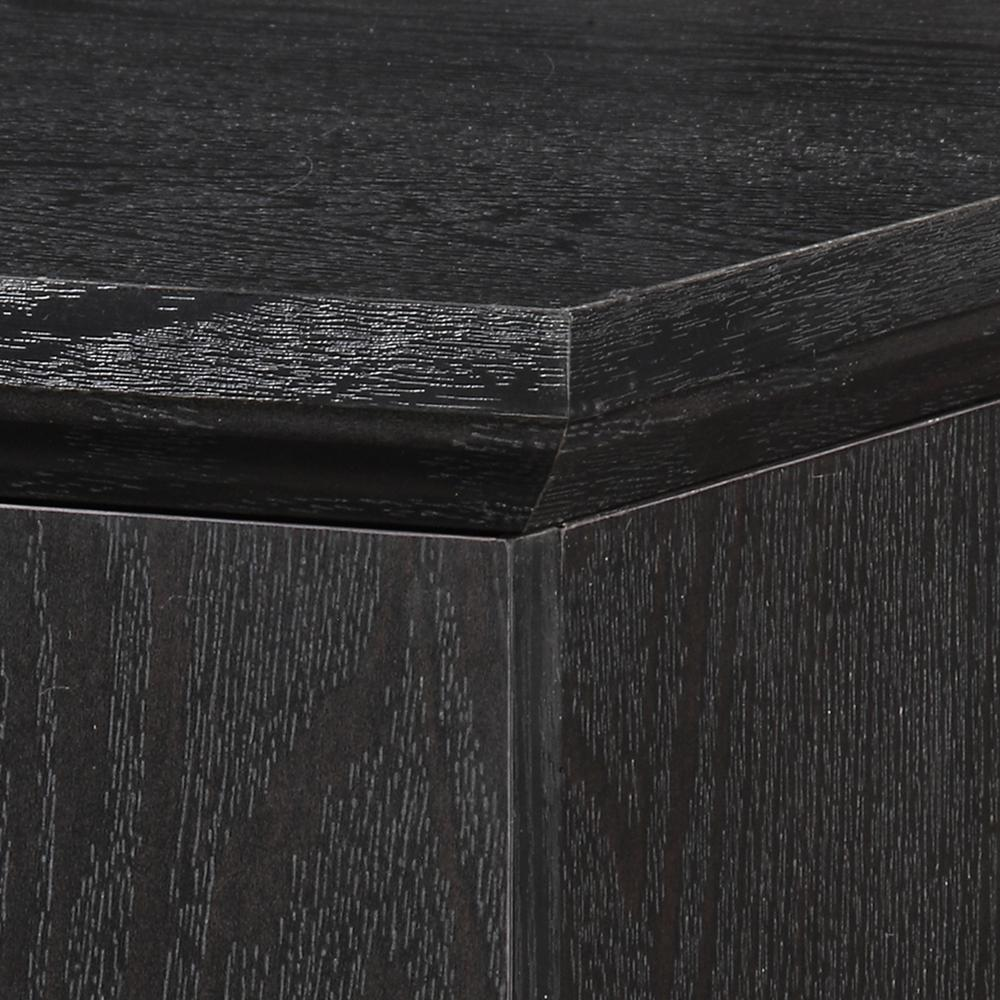 """44"""" Black Wood TV Stand Console. Picture 4"""