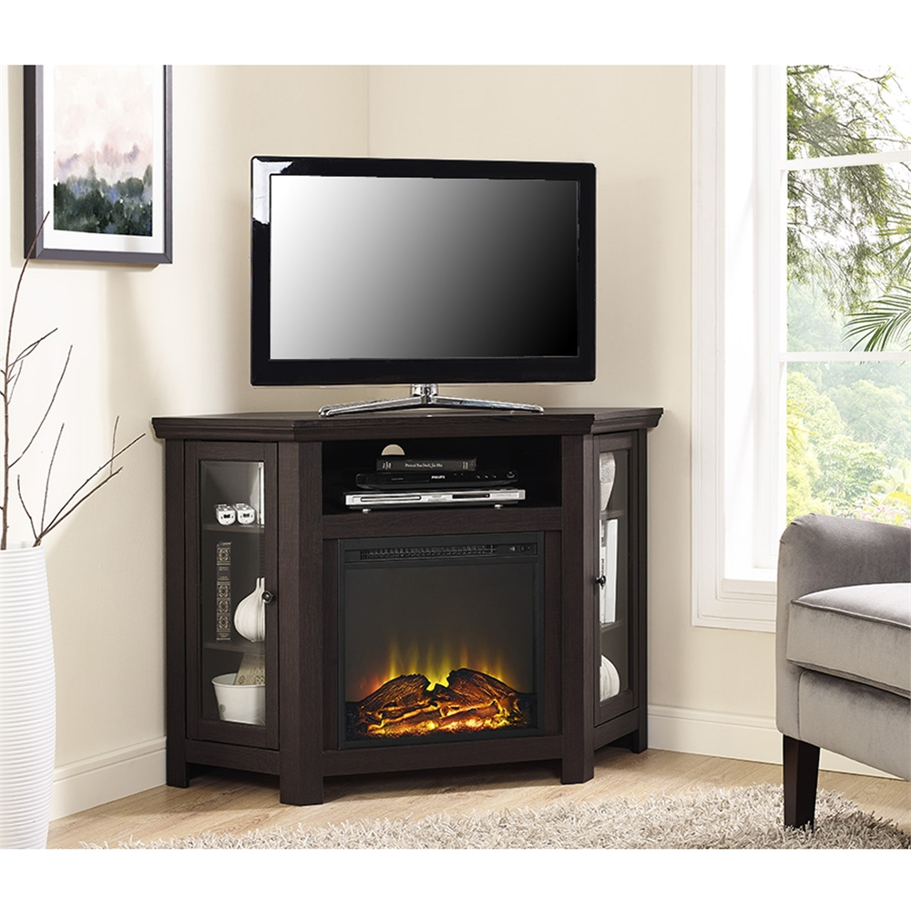 48 Quot Corner Fireplace Tv Stand Espresso