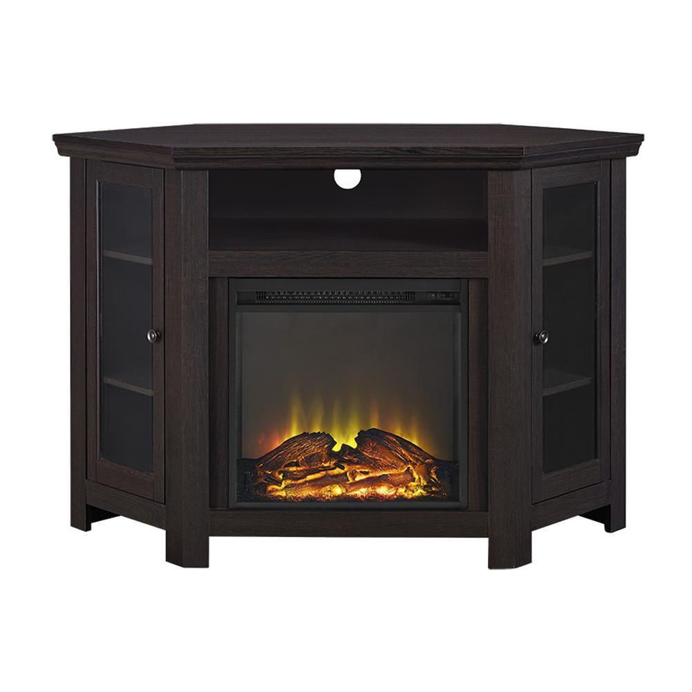 48 Quot Corner Fireplace Tv Stand Espresso