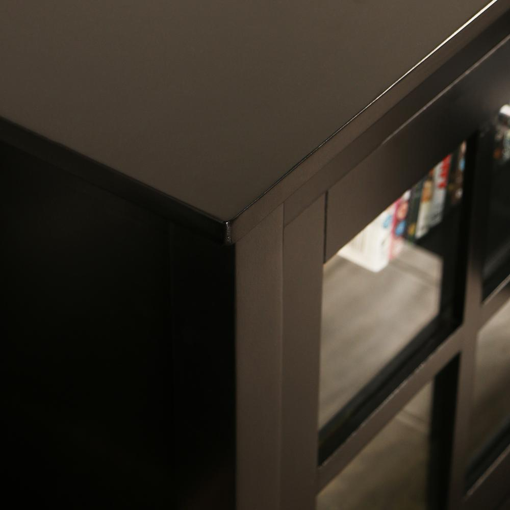 """52"""" Black Wood TV Stand Console. Picture 3"""