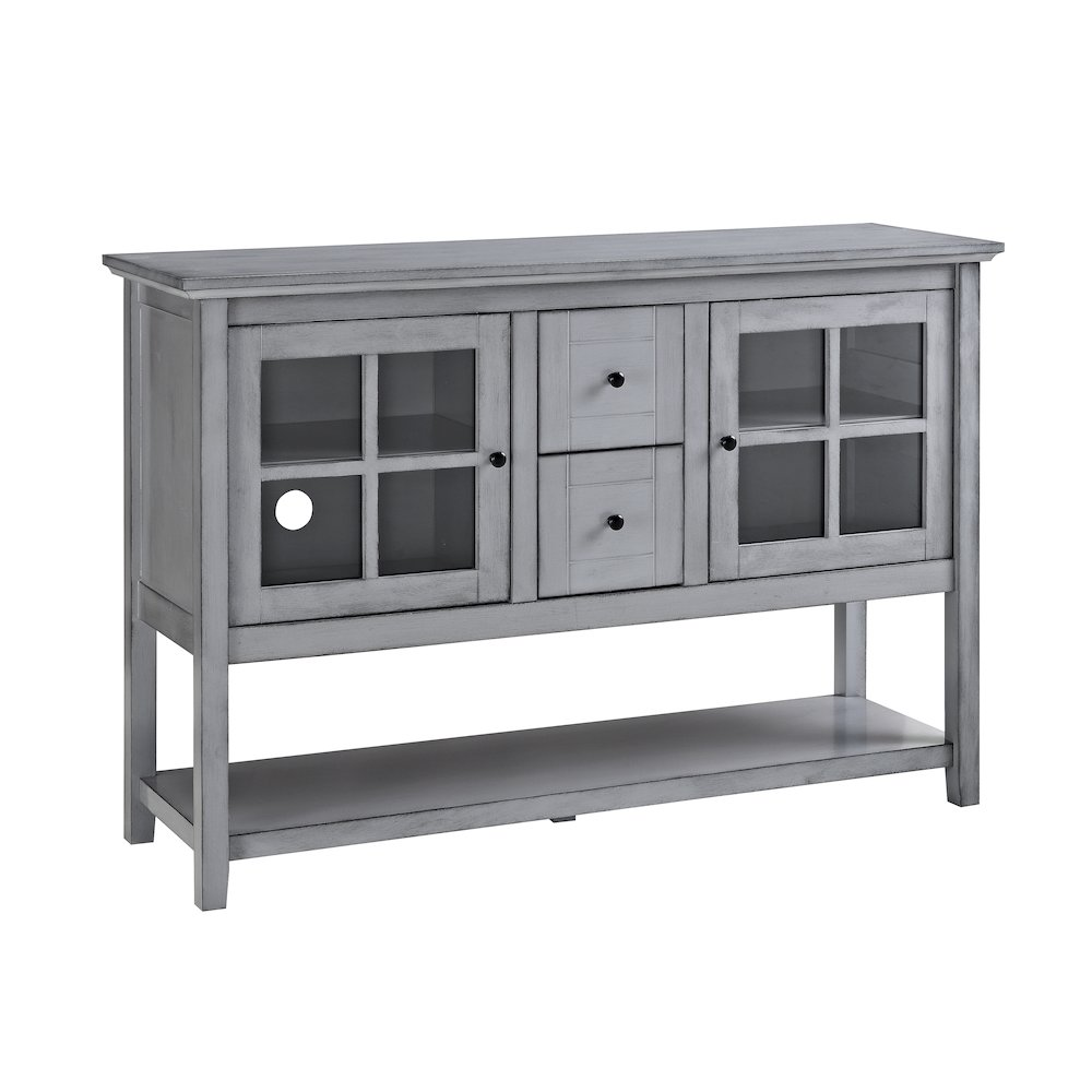 52 wood console table buffet tv stand antique grey for Table stand i 52 compose