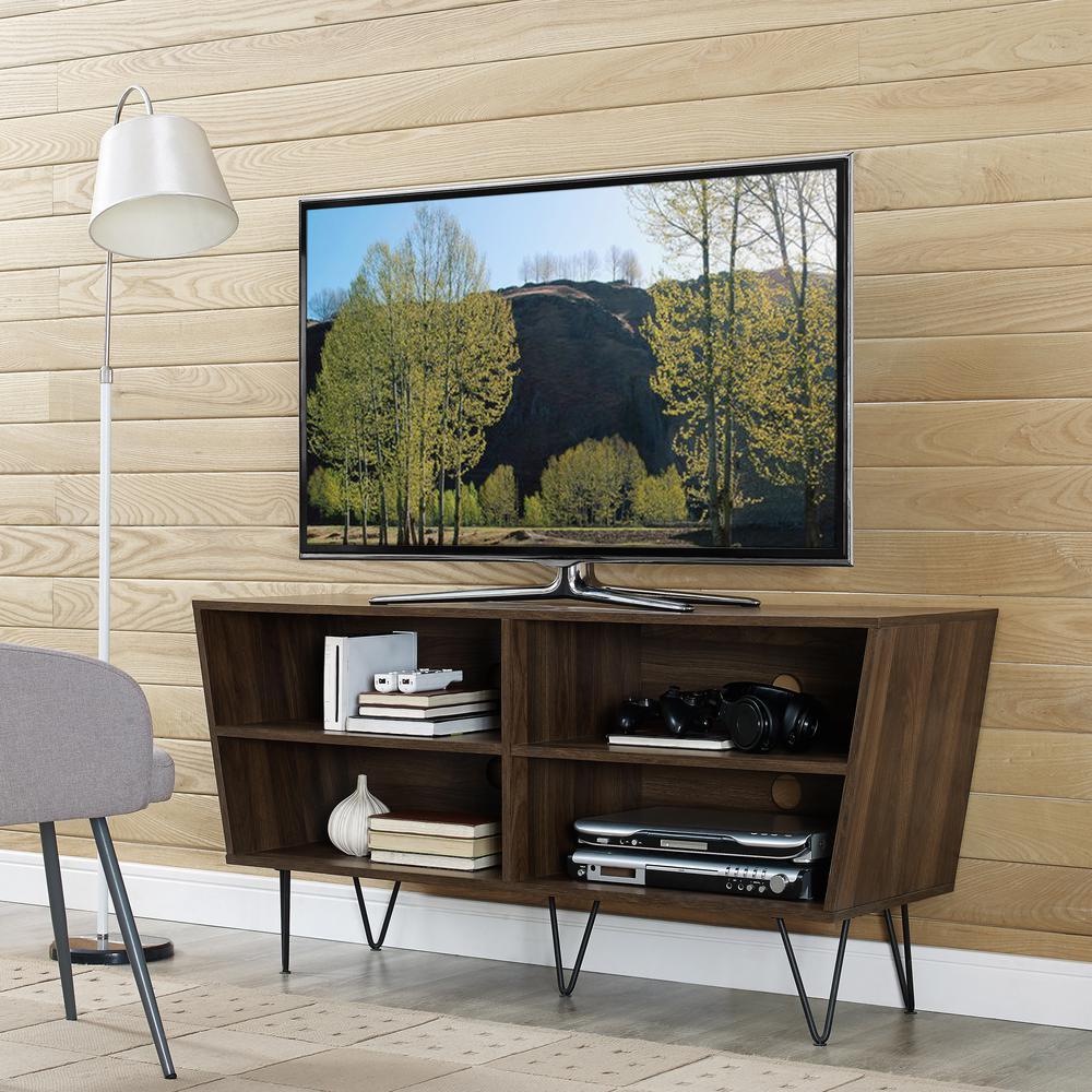 "52"" Crosby Angled Side TV Console - Dark Walnut. Picture 2"