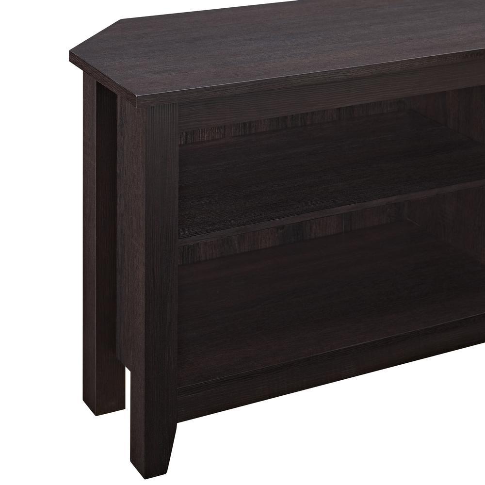 """58"""" Wood Corner TV Console - Espresso. Picture 4"""