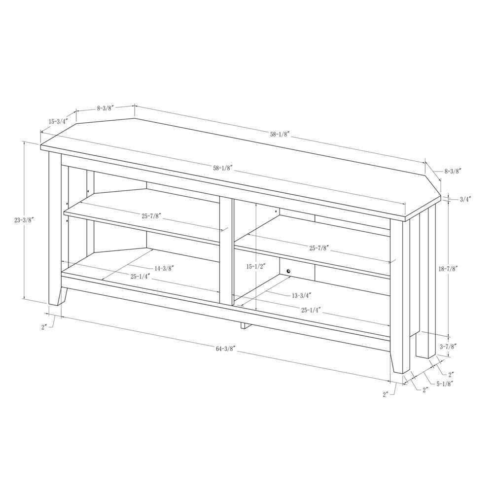 """58"""" Wood Corner TV Console - Espresso. Picture 5"""