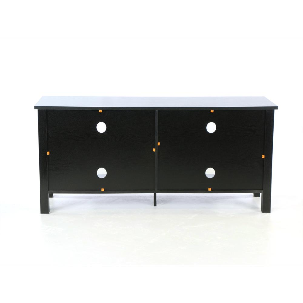 "58"" Black Wood TV Stand Console. Picture 8"