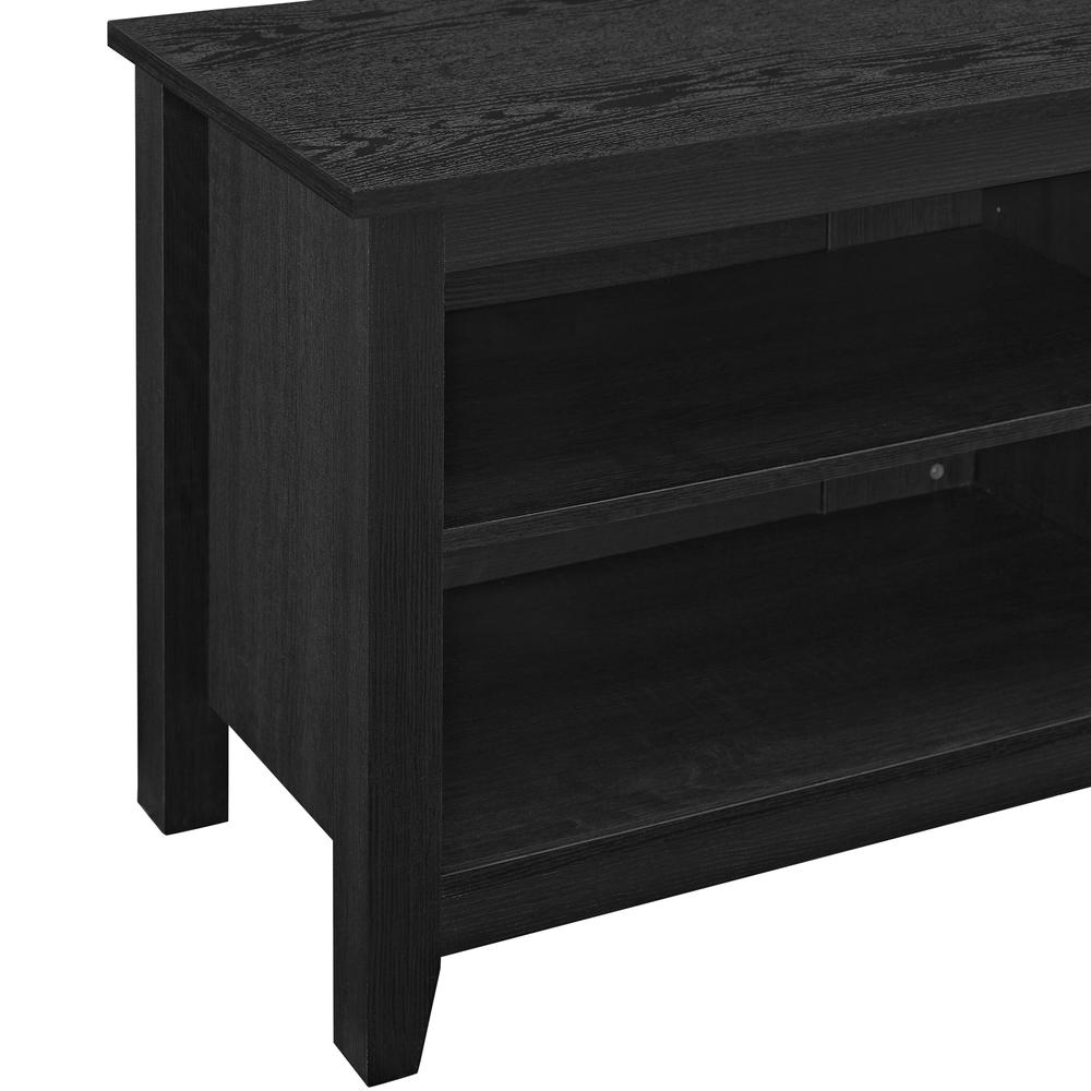 "58"" Black Wood TV Stand Console. Picture 9"
