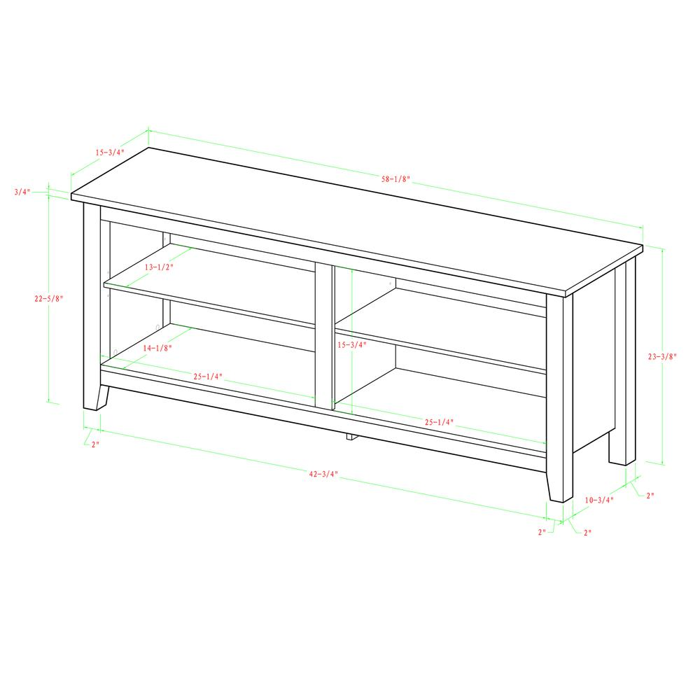 "58"" Black Wood TV Stand Console. Picture 10"