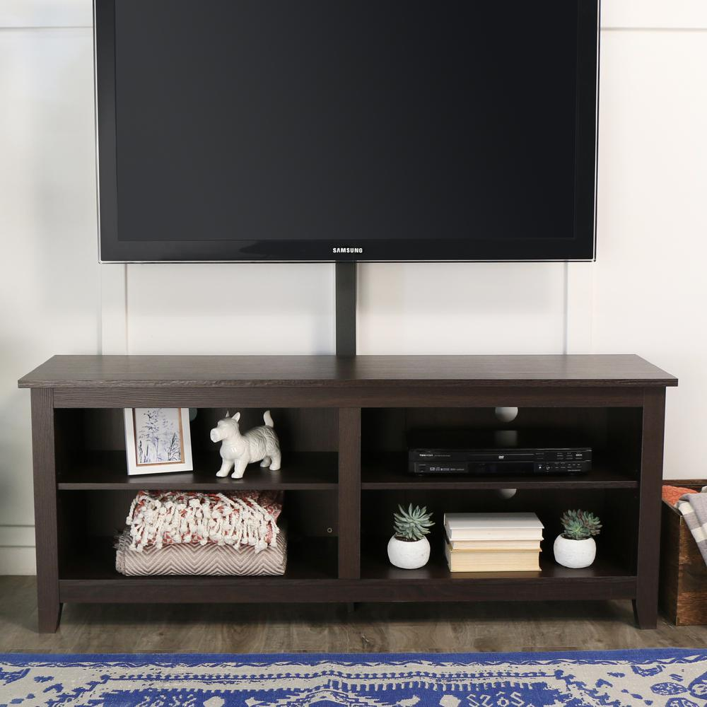 "58"" Espresso Wood TV Stand Console. Picture 2"
