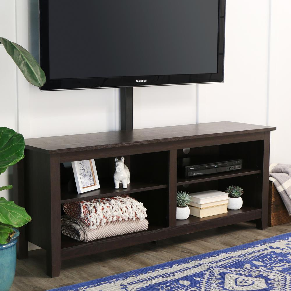 "58"" Espresso Wood TV Stand Console. Picture 3"