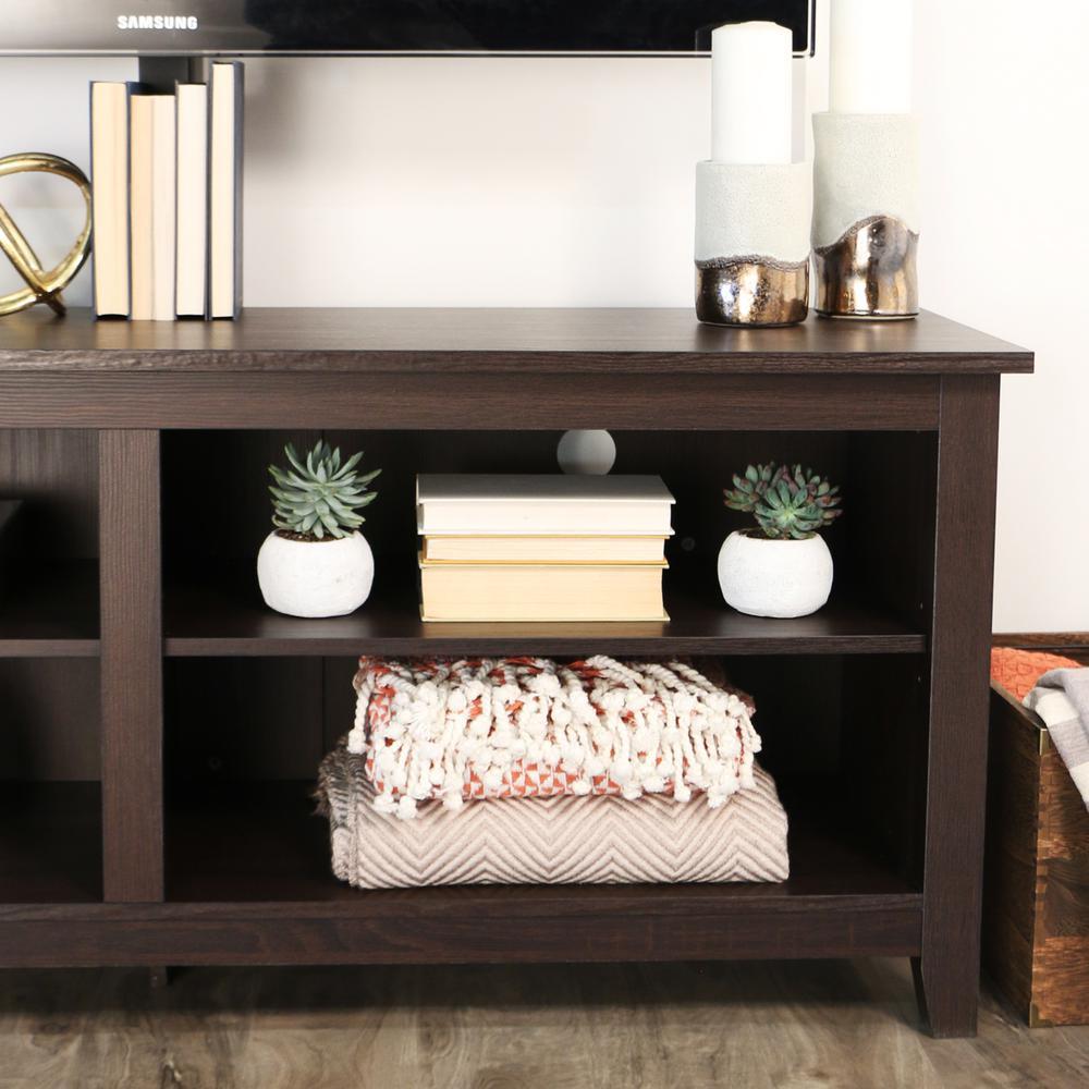 "58"" Espresso Wood TV Stand Console. Picture 4"