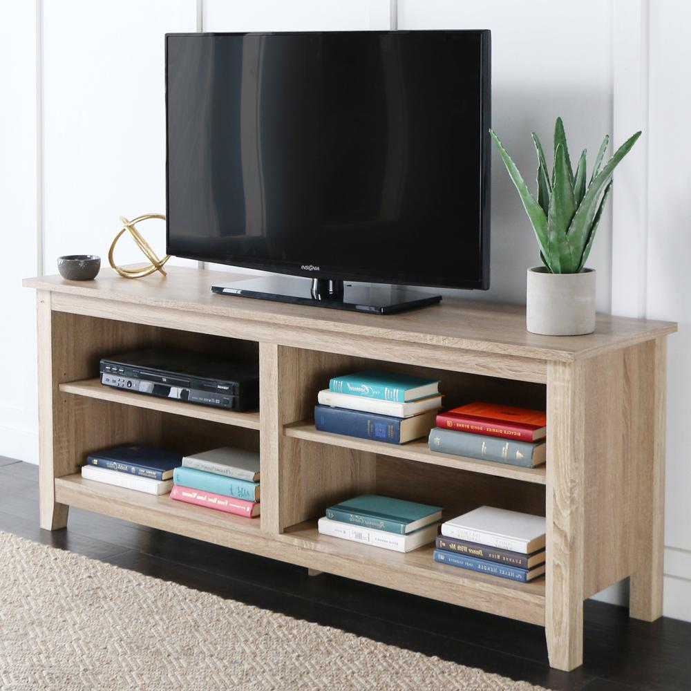 """58"""" Natural Wood TV Stand Console. Picture 3"""