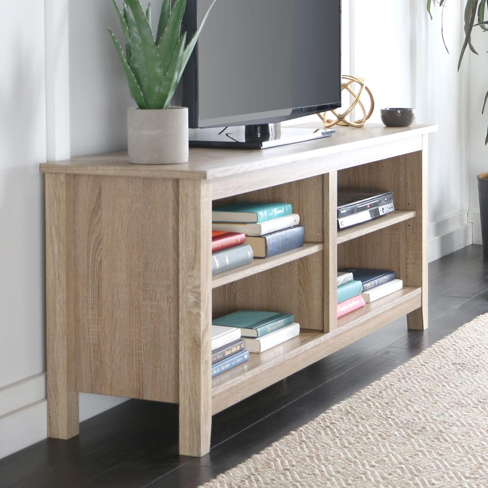 """58"""" Natural Wood TV Stand Console. Picture 2"""
