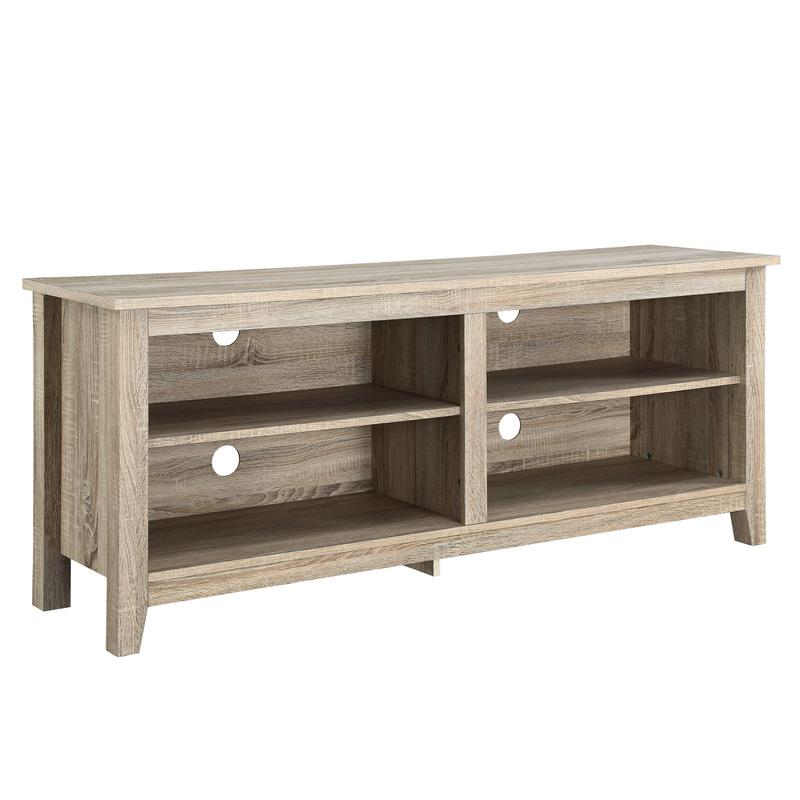 """58"""" Natural Wood TV Stand Console. Picture 1"""