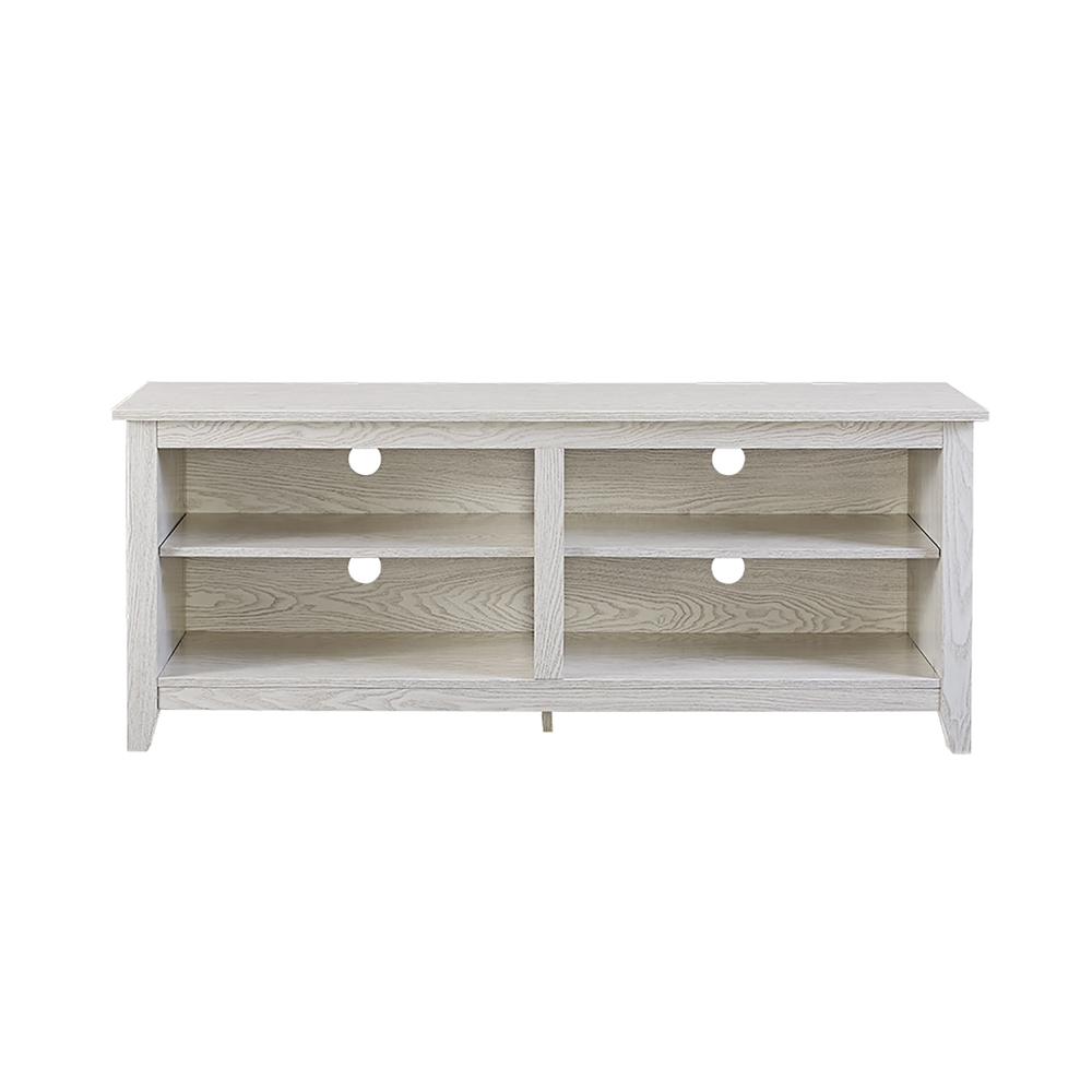 58 Quot White Wash Wood Tv Stand