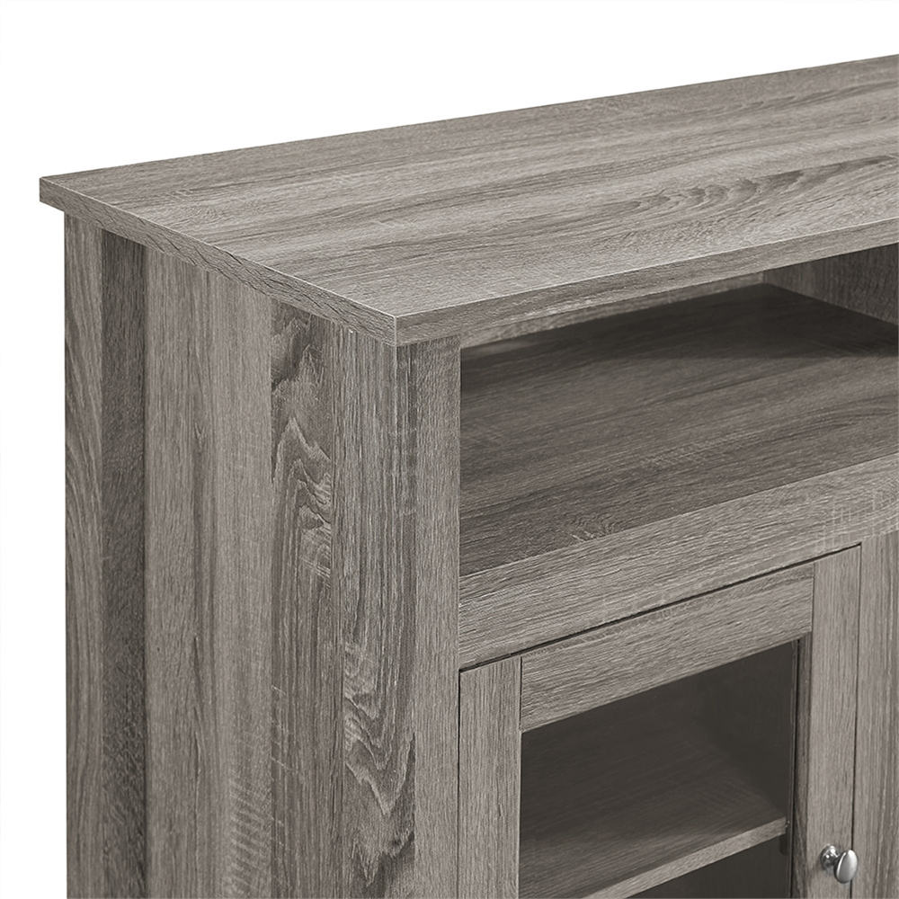 58 Quot Wood Highboy Fireplace Tv Stand Driftwood