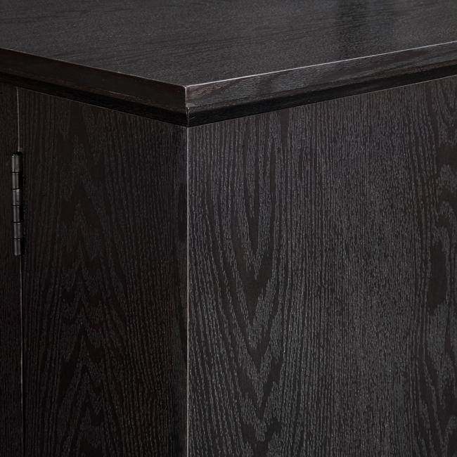"""60"""" Black Wood TV Stand Console. Picture 2"""
