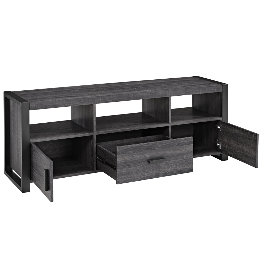 Angelo Home 60 Quot Tv Stand Console Charcoal