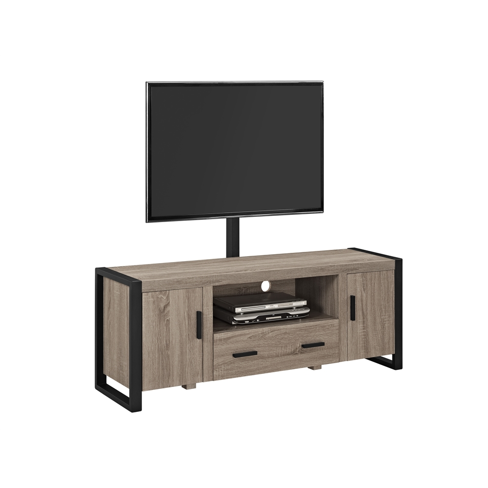 60 Quot Urban Blend Tv Stand With Mount Driftwood Black