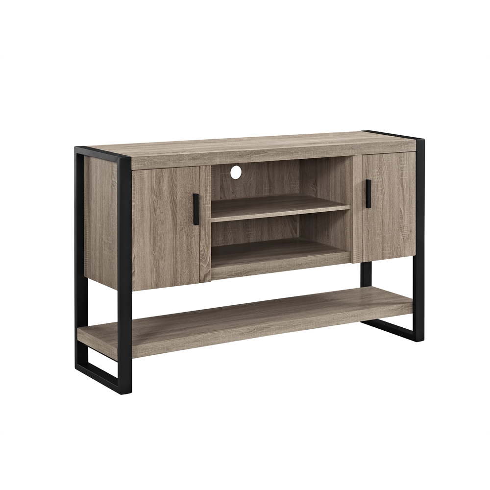 60 urban blend tv console table buffett driftwood black for 70 inch console table