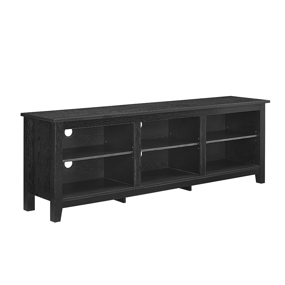 70 essentials tv stand black for 70 inch console table