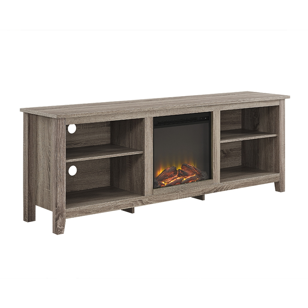 70 Quot Fireplace Tv Stand Driftwood