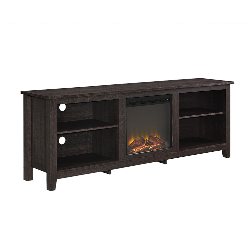 70 Quot Fireplace Tv Stand Espresso