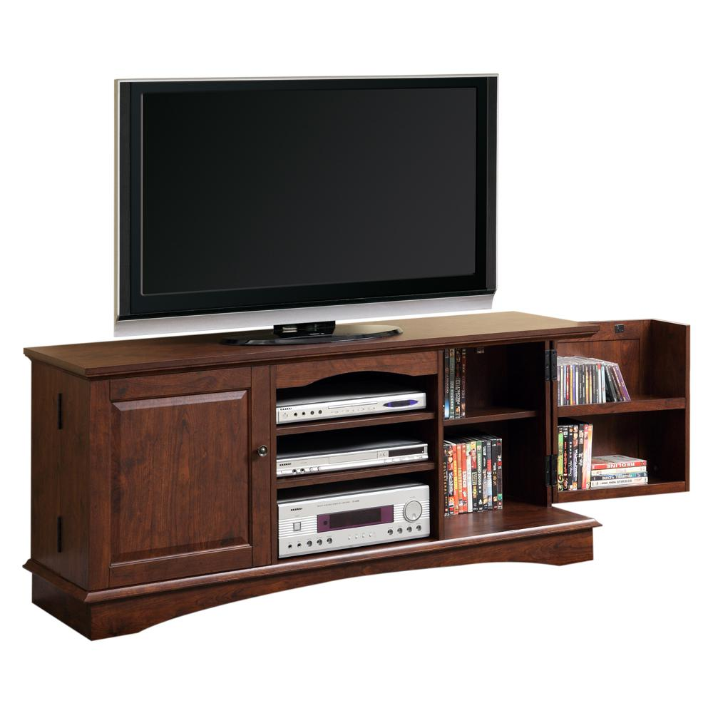 """60"""" Brown Wood TV Stand Console. Picture 1"""