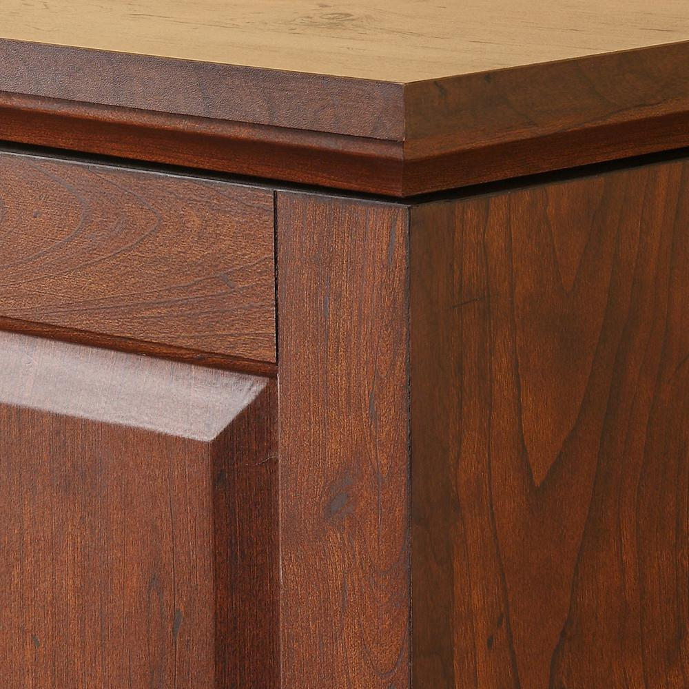 """60"""" Brown Wood TV Stand Console. Picture 3"""