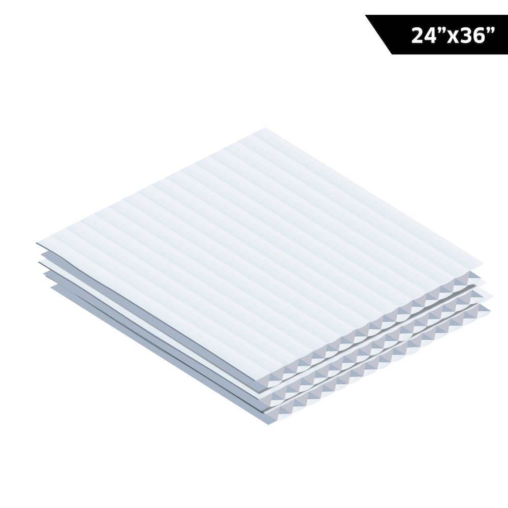 Corrugated Plastic Sheet 24 Quot X36 48 Pack White