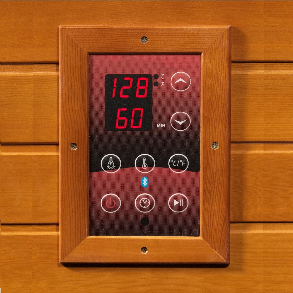 "Maxxus ""Seattle Edition"" 2 Per Low EMF FAR Infrared Carbon Canadian Hemlock Sauna. Picture 2"