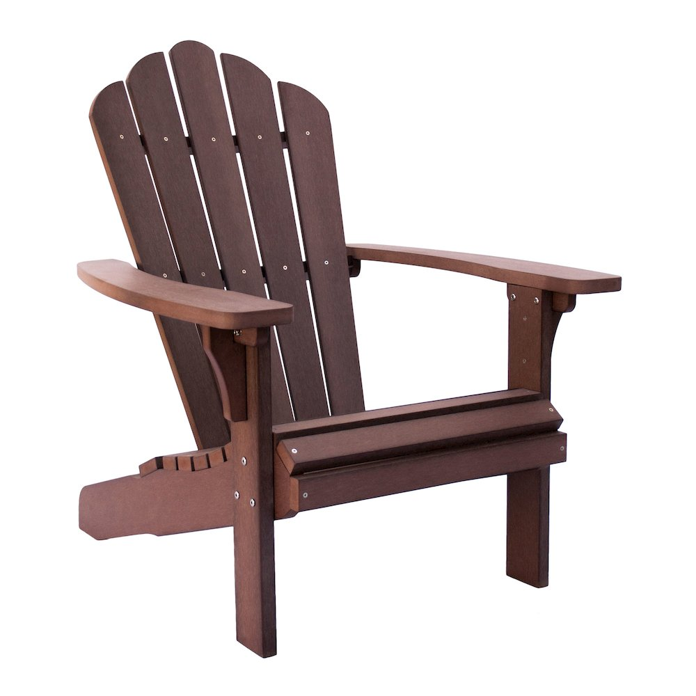 West Palm Plastic Adirondack Chair Chateau Brown