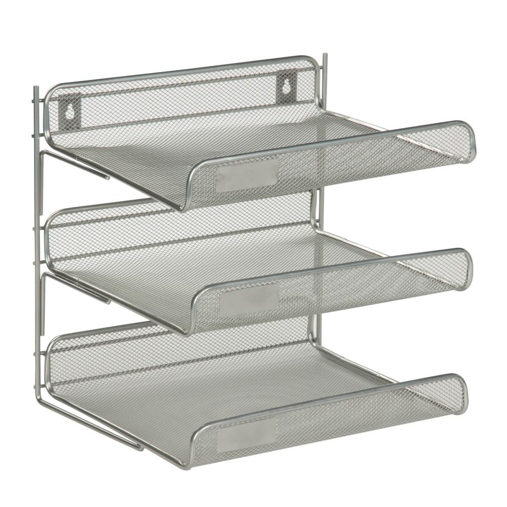 3 Tier Desk Organizer Silver