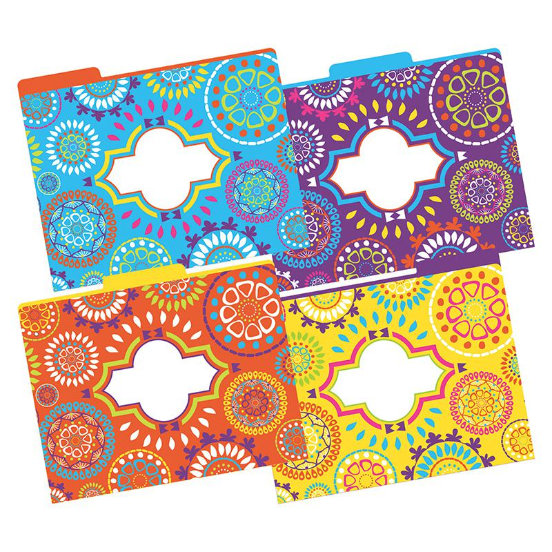 Letter Size File Folders Moroccan Multi Design Set