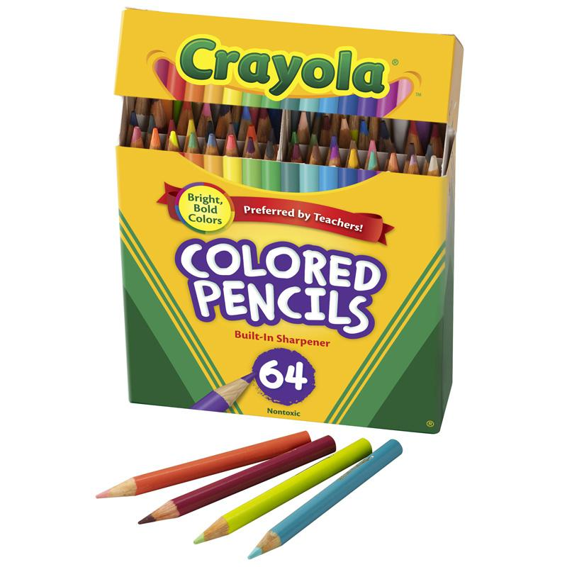 BINNEY & SMITH / CRAYOLA Colored Woodcase Pencil, HB, 3.3 mm, Assorted, 64/Pack. Picture 1