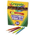 BINNEY & SMITH / CRAYOLA Colored Woodcase Pencil, HB, 3.3 mm, Assorted, 64/Pack. Picture 2