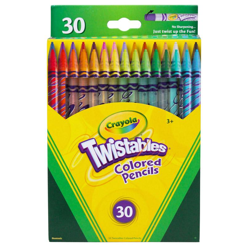 BINNEY & SMITH / CRAYOLA Twistables Colored Pencils, Nontoxic, 30 Assorted Colors/Pack. Picture 1
