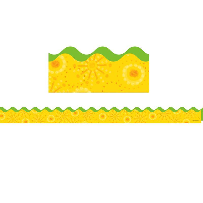 Carson Dellosa Lemon Lime Scalloped Border