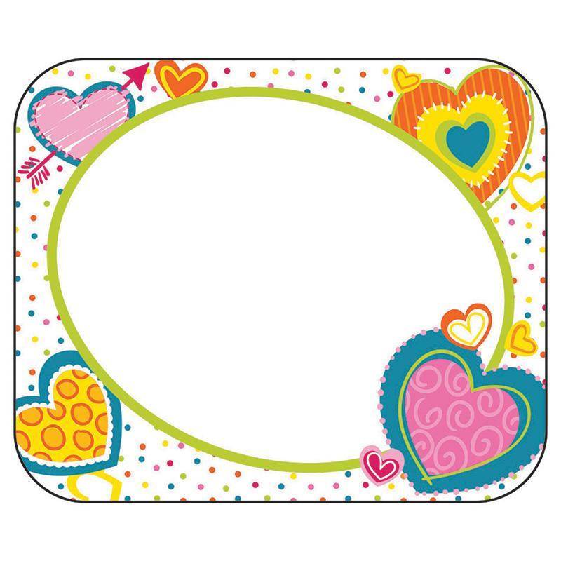 Hearts Nametags Gr Pk 5