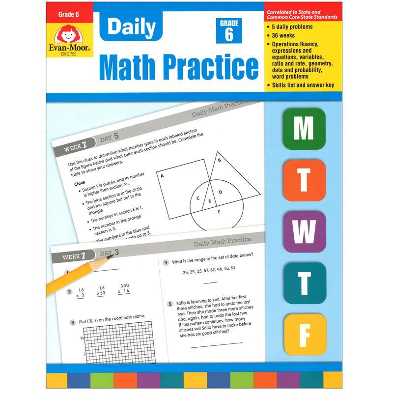 Evan moor daily math practice gr 6