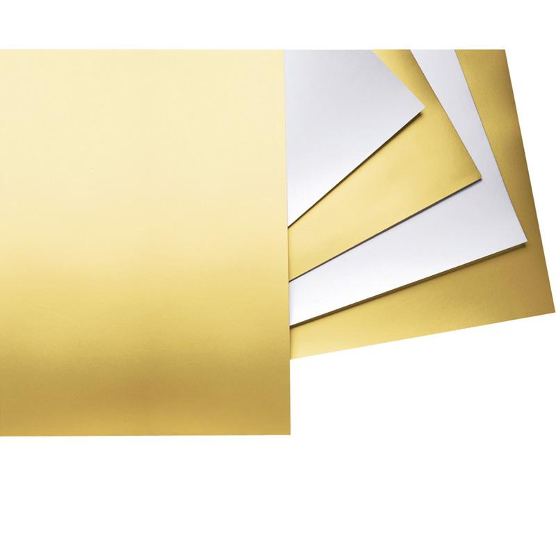 Metallic-Colored Four-Ply Poster Board, 28 x 22, Gold/White, 25/Carton. Picture 1
