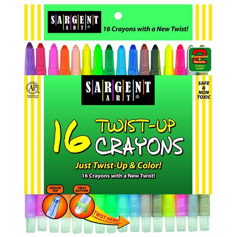 Sargent Art 16 Ct Twist Up Crayon