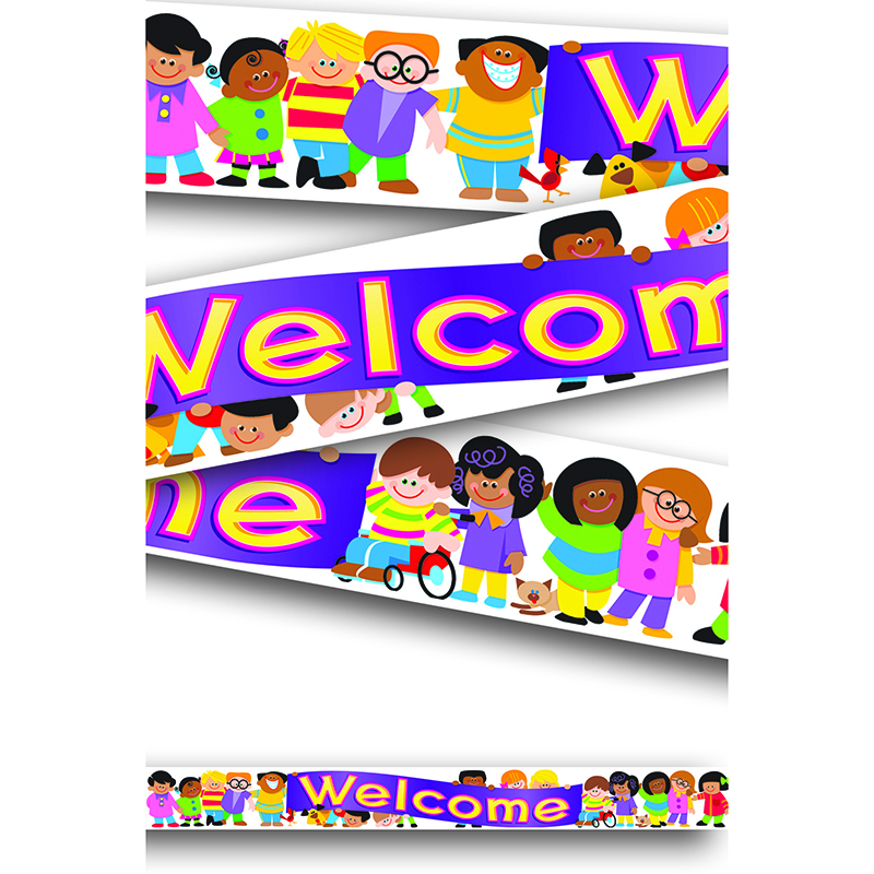 Trend Enterprises Banner Welcome Trend Kids 10ft Horizontal