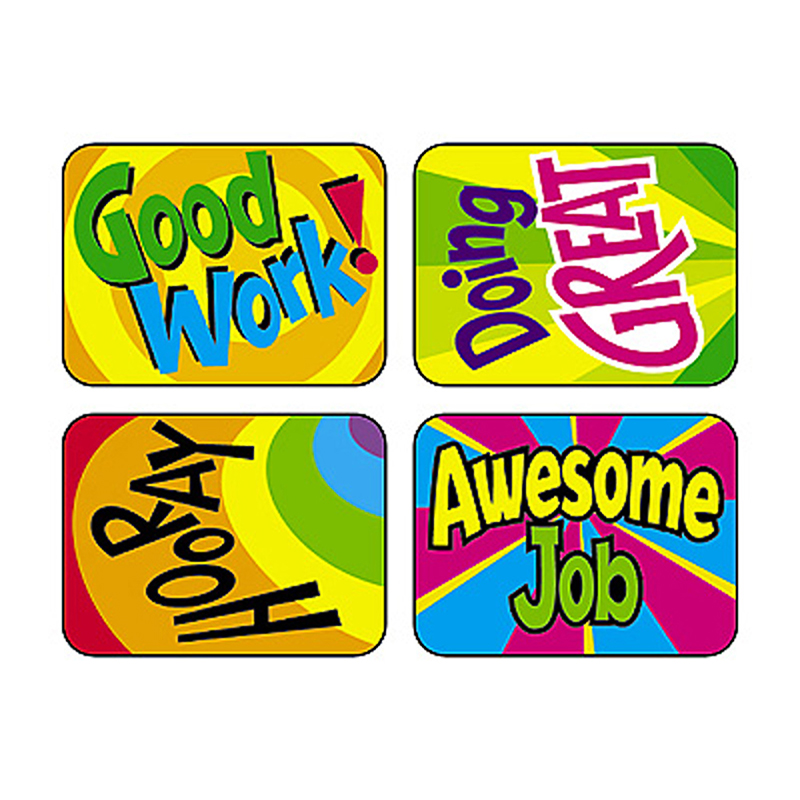 Trend Enterprises Applause Stickers Hooray Words