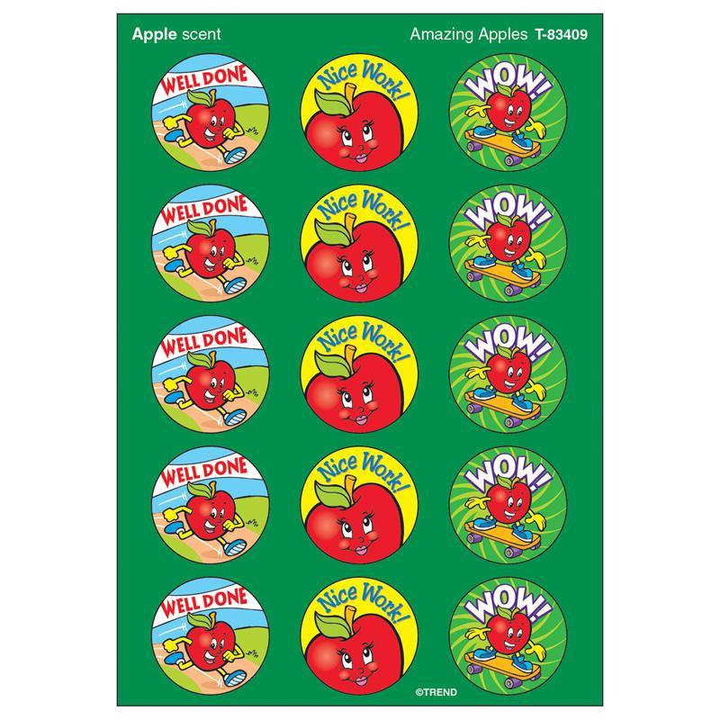 Trend Enterprises Stinky Stickers Amazing Apples 60pk Acid