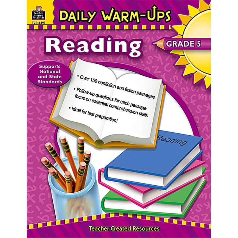 Daily Warm-Ups: Reading, Grade 5, Paperback, 176 Pages. Picture 1