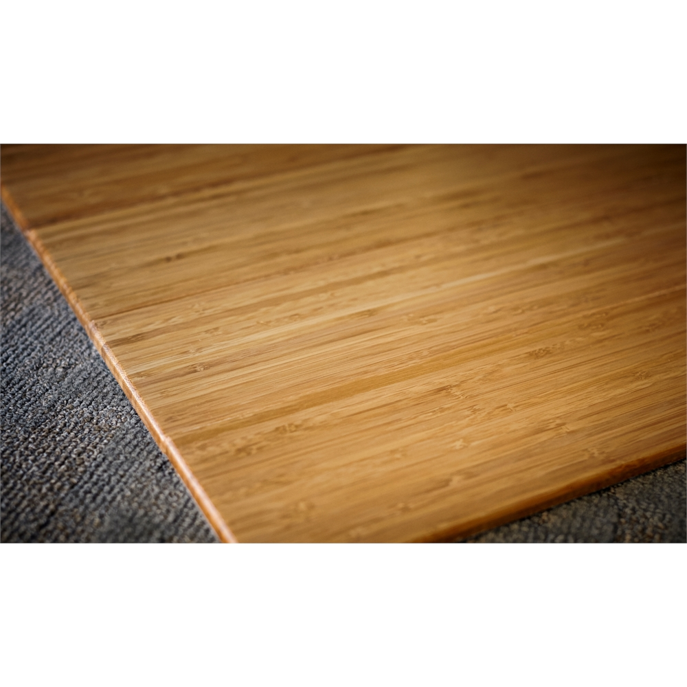 Bamboo Deluxe Roll Up Chairmat 60 X 48 No Lip